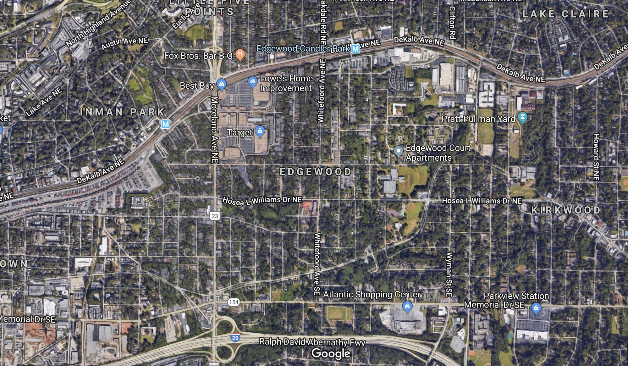 Edgewood map Atlanta