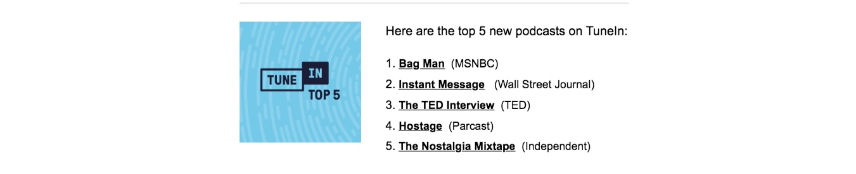 TuneIn Nostalgia Mixtape best new podcasts