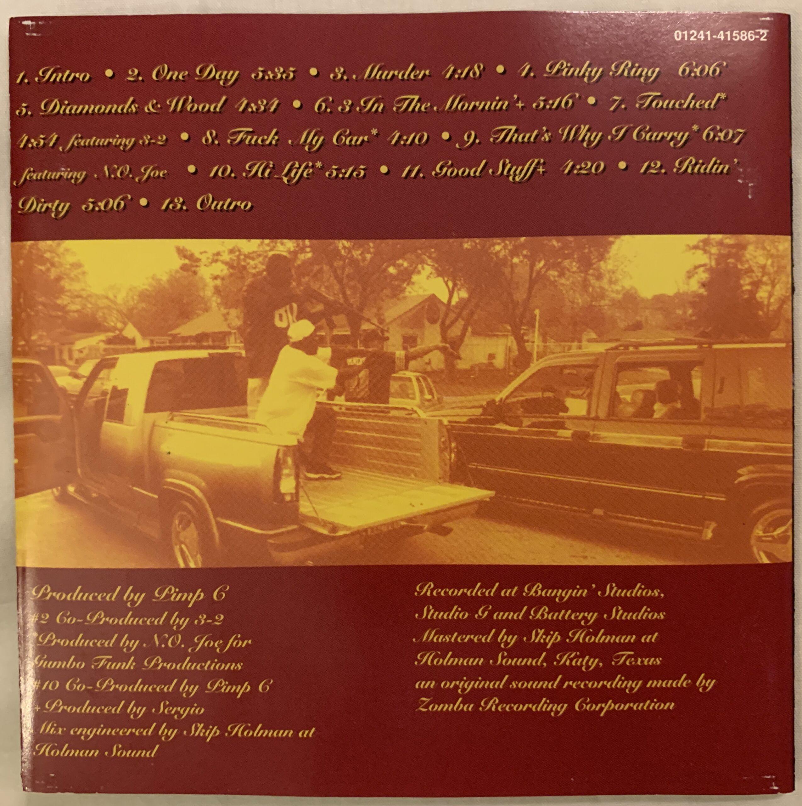 UGK Ridin Dirty CD booklet inside cover