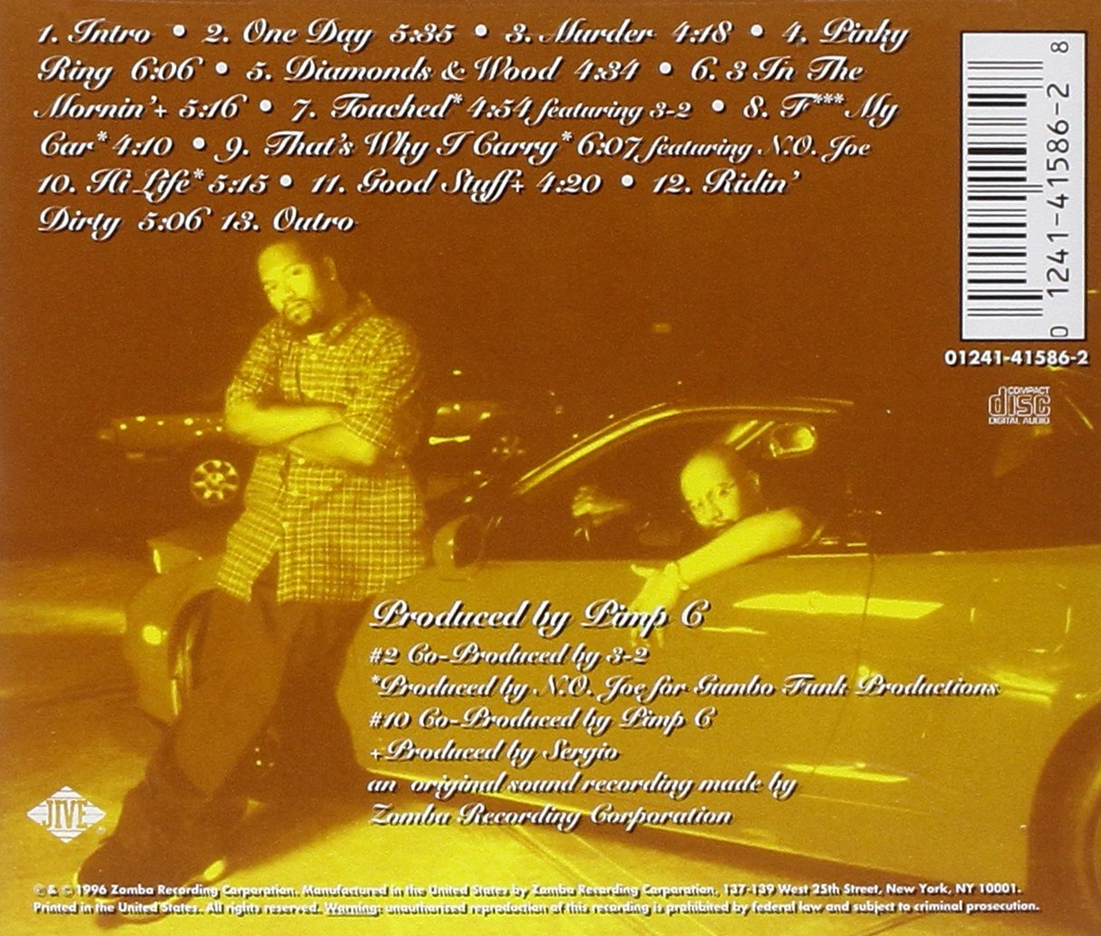 UGK Ridin Dirty back cover